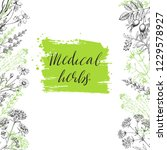 template vector card with... | Shutterstock .eps vector #1229578927