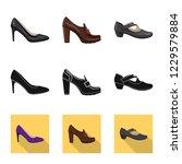 vector illustration of footwear ... | Shutterstock .eps vector #1229579884