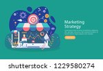 digital marketing strategy... | Shutterstock .eps vector #1229580274
