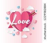 illustration of love and... | Shutterstock .eps vector #1229582884