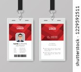 creative id card template with... | Shutterstock .eps vector #1229592511