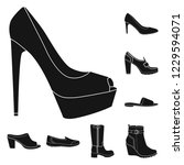 isolated object of footwear and ... | Shutterstock .eps vector #1229594071