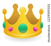 crown emoji icon object symbol... | Shutterstock .eps vector #1229595331