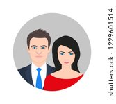 man and woman icon with... | Shutterstock .eps vector #1229601514