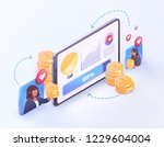 vector crowdfunding technology... | Shutterstock .eps vector #1229604004