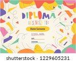 Artistic Colorful Diploma...