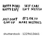 just don't give up. happy mind... | Shutterstock .eps vector #1229613661