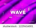 3d distorted wave lines....   Shutterstock .eps vector #1229616001