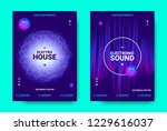 electronic music movement...   Shutterstock .eps vector #1229616037