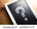 question mark drawn on... | Shutterstock . vector #1229617174