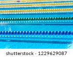 swimming pool   lane lines... | Shutterstock . vector #1229629087