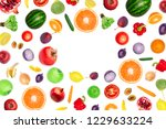 pattern of vegetables and... | Shutterstock . vector #1229633224