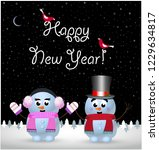 happy new year greeting card of ... | Shutterstock .eps vector #1229634817