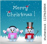 merry christmas greeting card... | Shutterstock .eps vector #1229634844