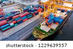 logistics and transportation of ... | Shutterstock . vector #1229639557