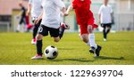 two young boys in soccer... | Shutterstock . vector #1229639704