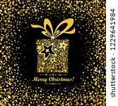 merry christmas  vintage card.... | Shutterstock . vector #1229641984