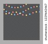 christmas lights isolated... | Shutterstock .eps vector #1229642467