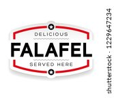 falafel vintage sign label | Shutterstock .eps vector #1229647234