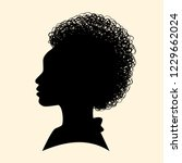 silhouettes of african american.... | Shutterstock .eps vector #1229662024
