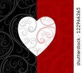 vector pattern heart shape... | Shutterstock .eps vector #122966365