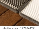 new and old car air filter.... | Shutterstock . vector #1229664991