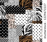 trendy animal skin mixed with... | Shutterstock .eps vector #1229672227