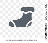 christmas sock icon. christmas...   Shutterstock .eps vector #1229672437