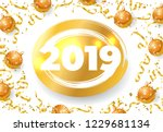 twenty nineteen festive card... | Shutterstock .eps vector #1229681134