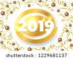 twenty nineteen festive card... | Shutterstock .eps vector #1229681137