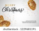 merry christmas banner design... | Shutterstock .eps vector #1229681191