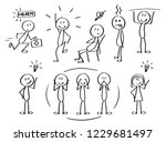 set of funny and cute figures... | Shutterstock .eps vector #1229681497
