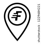 letter f and map pin. logo...