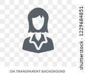 businesswoman icon. trendy flat ...   Shutterstock .eps vector #1229684851