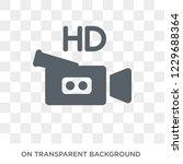 trendy flat vector hd movie... | Shutterstock .eps vector #1229688364