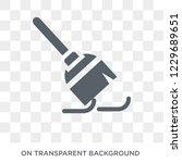 trendy flat vector broom icon... | Shutterstock .eps vector #1229689651