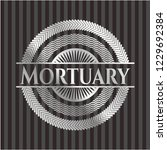 mortuary silvery badge   Shutterstock .eps vector #1229692384