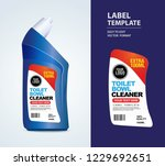 bottle label  package template... | Shutterstock .eps vector #1229692651