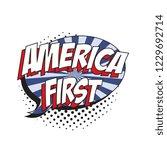 phrase america first in retro... | Shutterstock .eps vector #1229692714