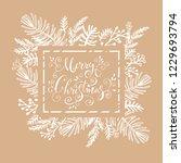 merry christmas. handwriting... | Shutterstock .eps vector #1229693794