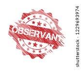 grunge observant emblem  label  ... | Shutterstock .eps vector #1229693974