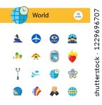 world icon set. fairy tales... | Shutterstock .eps vector #1229696707