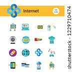 internet icon set. web camera... | Shutterstock .eps vector #1229710474
