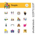 people icon set. family showing ... | Shutterstock .eps vector #1229711137