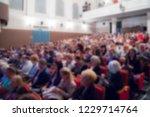 defocused image. spectators at... | Shutterstock . vector #1229714764