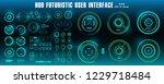 sci fi futuristic hud green... | Shutterstock .eps vector #1229718484