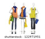 full length female clothes in... | Shutterstock . vector #122971951