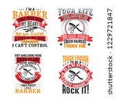 barber quote set for graphic... | Shutterstock .eps vector #1229721847