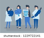 characters of people holding... | Shutterstock .eps vector #1229722141