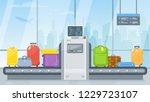 vector airport police scanner... | Shutterstock .eps vector #1229723107